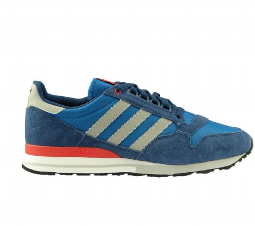Adidas Originals Men's ZX 500 OG Hero Blue Grey Suede Mesh Running Retro Casual